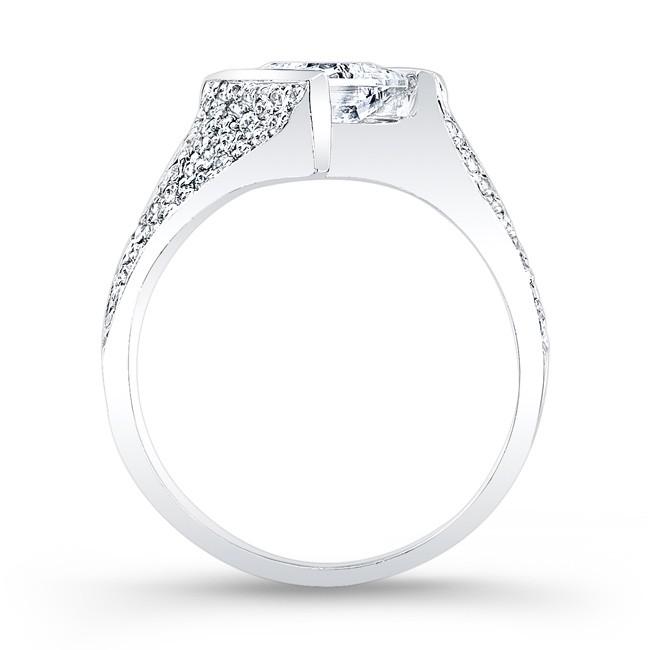 Barkevs Princess Cut Engagement Ring 7872L