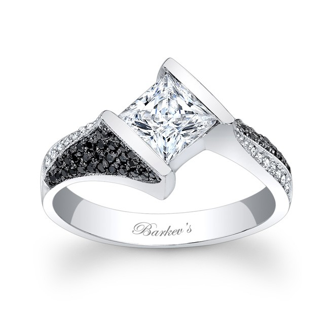 Barkev s Black And White Diamond Engagement Ring 7872LBK