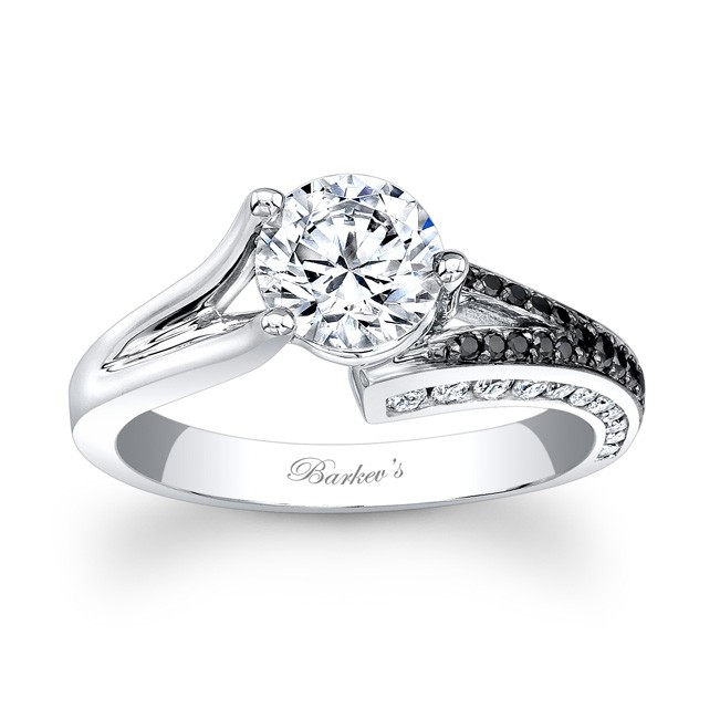 Barkevs Black White Diamond Engagement Ring 7873LBK