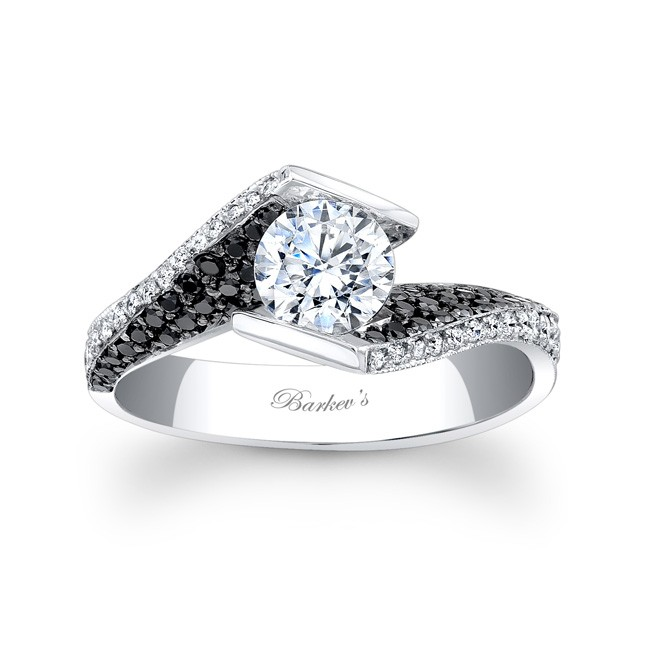 Barkev s Black Diamond Engagement Ring 7879LBK