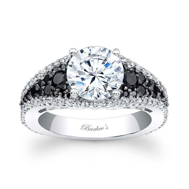 Black & White Diamond Engagement Ring - 7892LBK