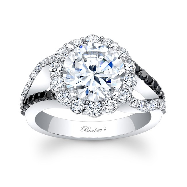 Black & White Diamond Engagement Ring