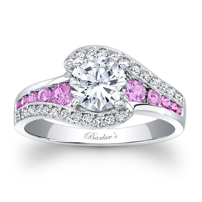 Wedding Rings With Pink Barkev39s Pink Sapphire Engagement Ring 7898lps