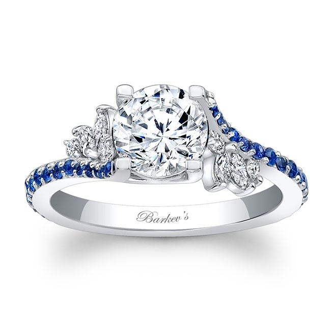 Barkevs Blue Sapphire Engagement Ring 7908LBS