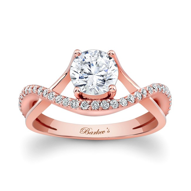 Barkevs Rose Gold Engagement Ring 7913LP