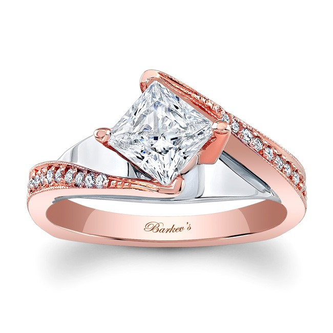 Barkevs Rose Gold Engagement Ring 7922LT