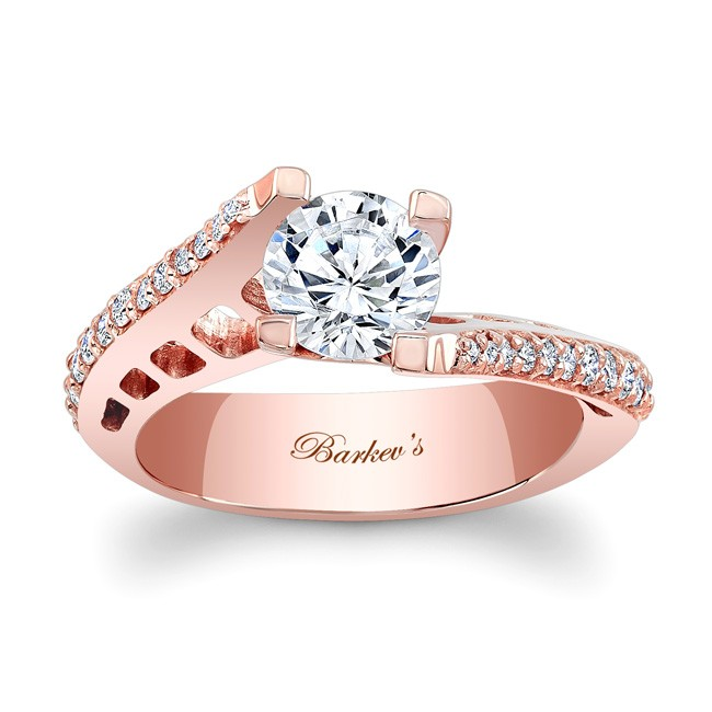 Barkev s Rose Gold Engagement Ring 7927LP