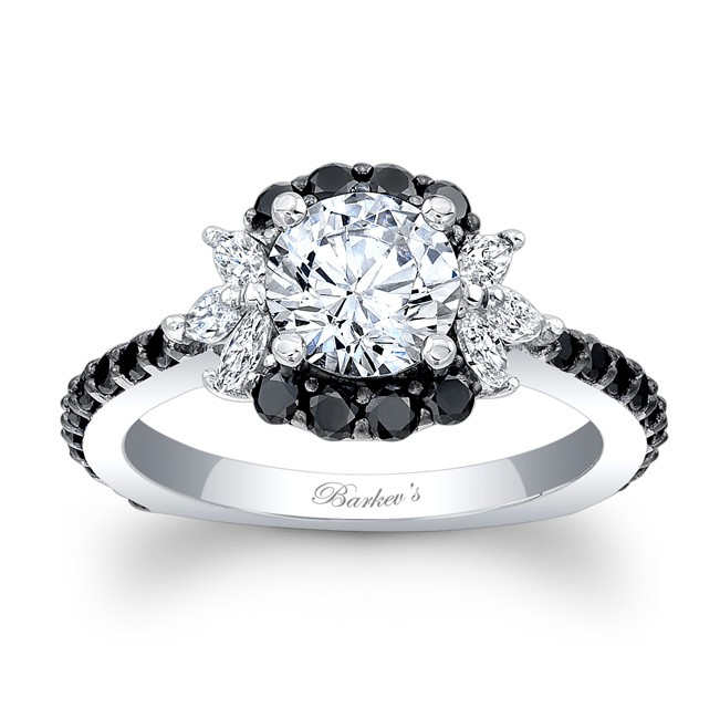Barkev's Black Diamond Engagement Ring 7930LBK