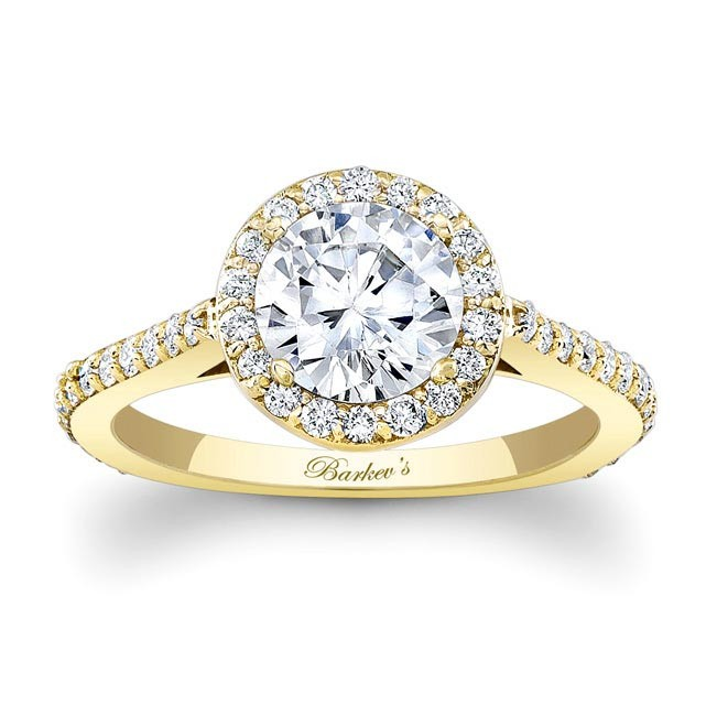 barkev s yellow gold engagement ring 7933ly