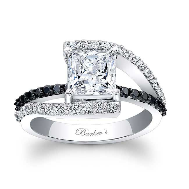 Barkev s Black Diamond Engagement Ring 7935LBK