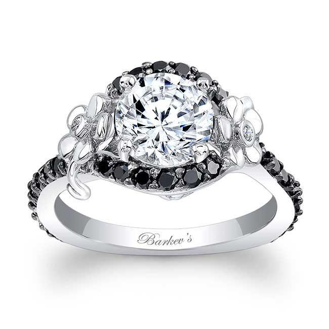 barkev s flower engagement ring with black diamonds 7936lbk