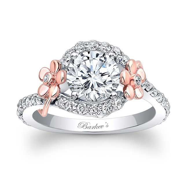 barkev 39 s floral engagement ring 7936lt. Black Bedroom Furniture Sets. Home Design Ideas