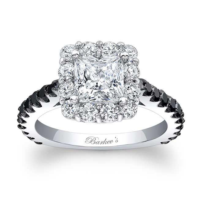 barkev 39 s black diamond princess cut ring 7939lbk. Black Bedroom Furniture Sets. Home Design Ideas