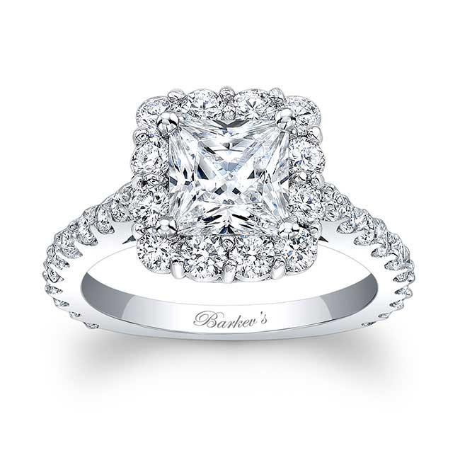Barkevs Princess Cut Halo Engagement Ring 7939L