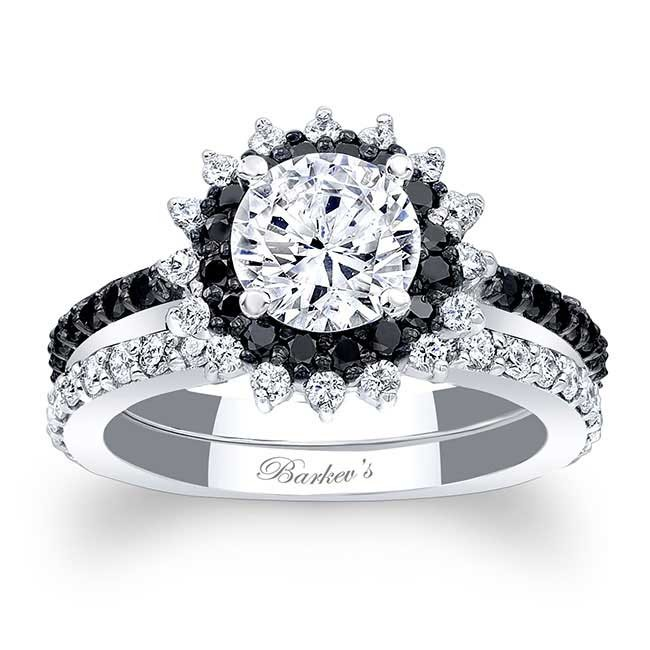 Barkev s Black Diamond Halo Bridal Set 7969SBK