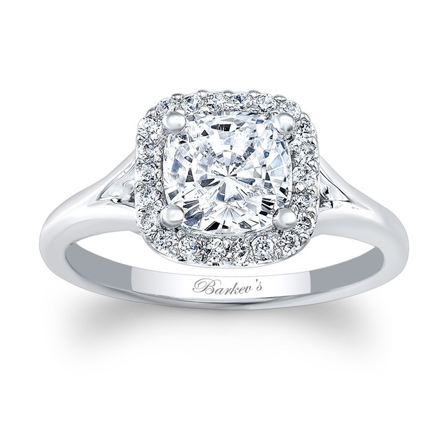 Barkev39s cushion cut engagement ring 7999l for Cushion cut engagement rings with wedding band