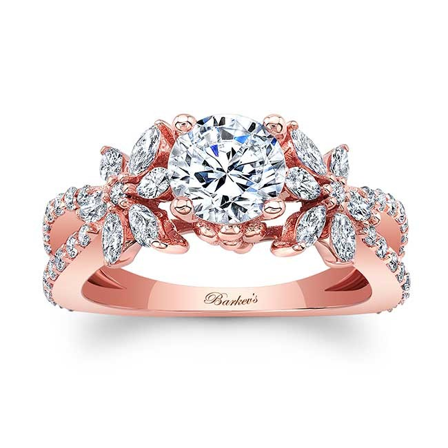 Barkevs Rose Gold Engagement Ring 8056LP