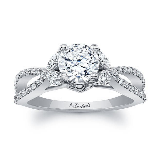 White Gold Engagement Ring 8062L