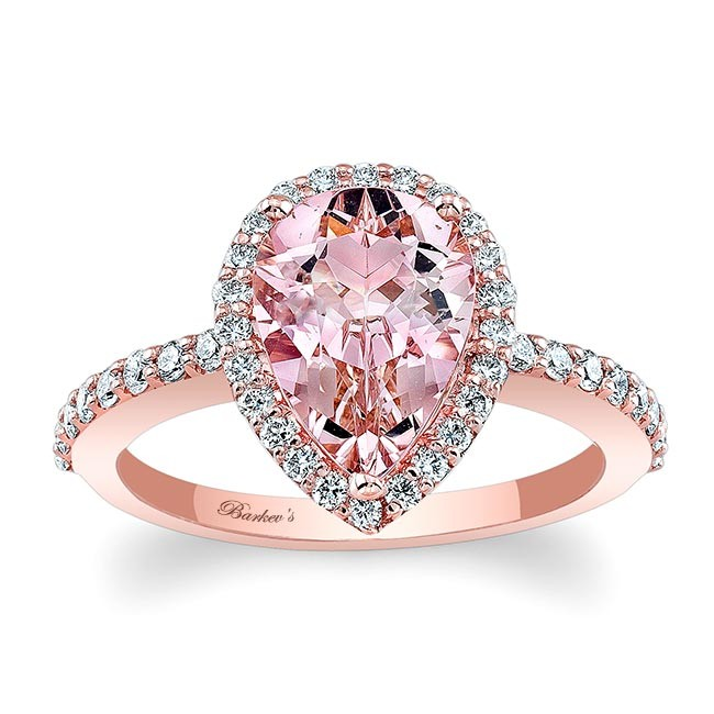 Morganite Engagement Ring  MOC-7994LP