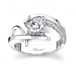 White Gold Engagement Ring - 7619L