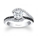 Black Diamond Engagement Ring - 7848LBK