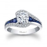 Blue Sapphire Engagement Ring - 7898LBS