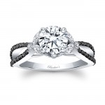 Black Diamond Engagement Ring 8062LBK