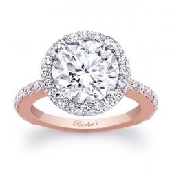 Rose & White Gold Engagement Ring 7839LT