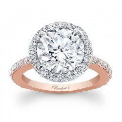 Rose & White Gold Engagement Ring 7839LT