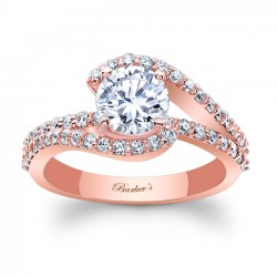 Rose Gold Engagement Ring 7848LP