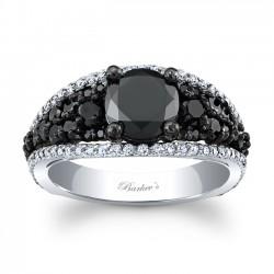 Black & White Engagement Ring BC-7892LBK