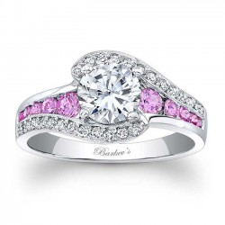 Pink Sapphire Engagement Ring - 7898LPS