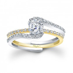 White & Yellow Gold Bridal Set 7907STY