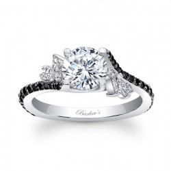 Black Diamond Engagement Ring - 7908LBK