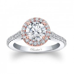 Two Tone Halo Engagement Ring 7933LT