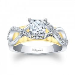 Princess Cut Engagement Ring 8018LTYRV