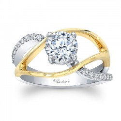 Unique Diamond Engagement Ring 8040LT