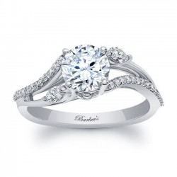 White Gold Engagement Ring 8060L