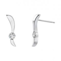 White gold diamond earrings - 5191E