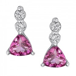 Pink Tourmaline Earrings - 5380E