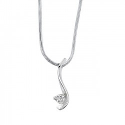 White gold diamond pendant - 5428N