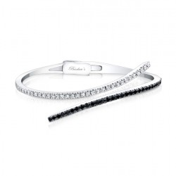 Black & White Diamond Bracelet  - 6528BK