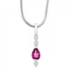 Pink Tourmaline Pendant - 6652N