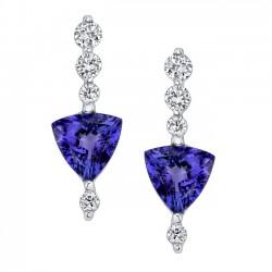 Diamond Tanzanite Earrings - 6703E
