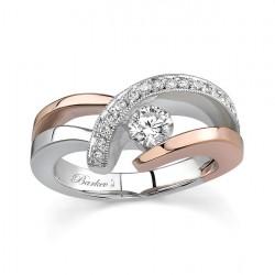 Two Tone Diamond Engagement Ring - 6722LP