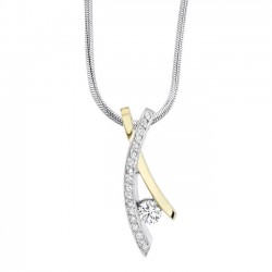 White & yellow gold diamond pendant - 6727N