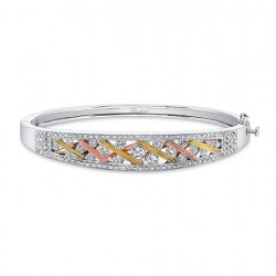 Tri Color Diamond Bracelet - 6749B