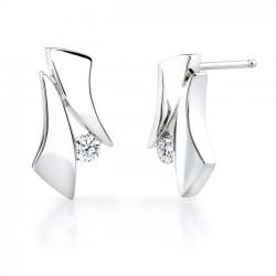 White gold diamond earrings - 6839E