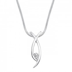 White gold diamond pendant - 6846N