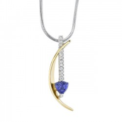Two Tone Tanzanite Pendant - 6858N